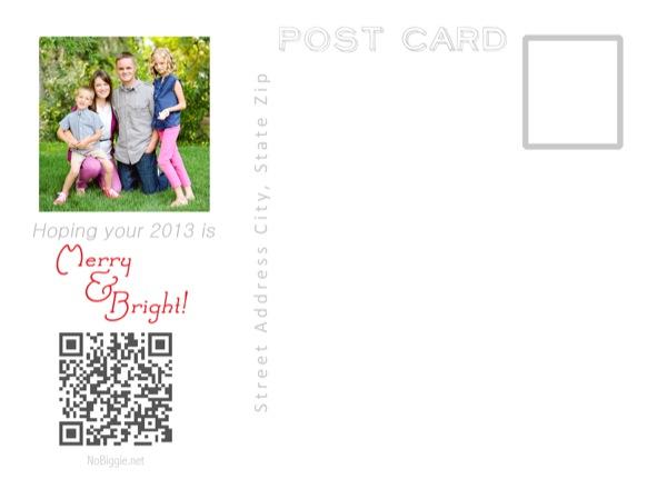Christmas Card 2012 NoBiggie.net (backside)