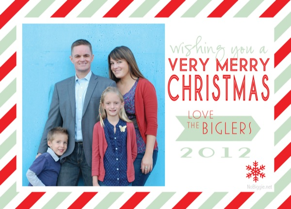 Christmas Card 2012 NoBiggie.net