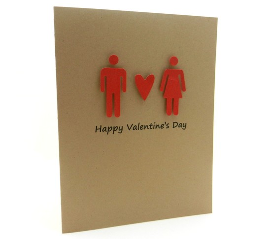 kraft paper Valentine card