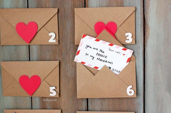 kraft paper Valentines Day countdown | NoBiggie.net