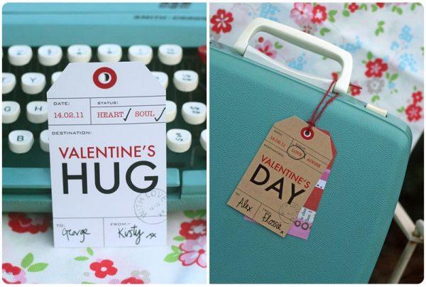 kraft paper Valentine's gift tag