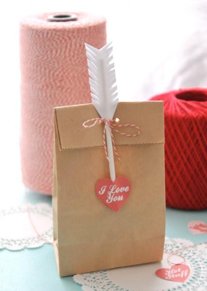 kraft paper gift topper