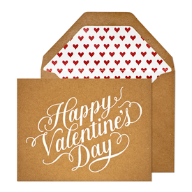 kraft paper happy Valentines Day card | 18+ Kraft Paper Valentines
