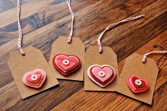 kraft paper valentine gift tags