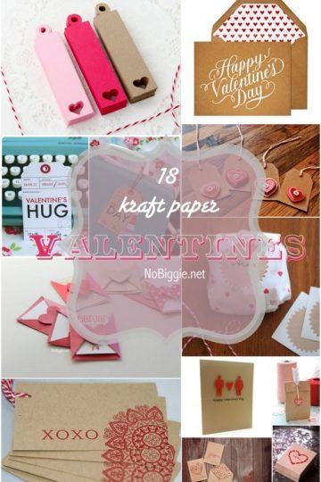 18+ Kraft Paper Valentines