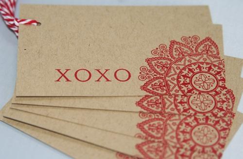 kraft paper xoxo tag