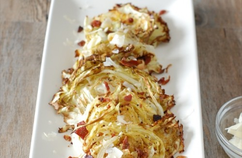 Roasted Cabbage With Bacon And Parmesan