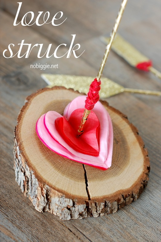 Make this cute cupid's arrow craft for Valentine's Day - NoBiggie.net