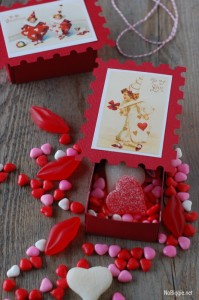 Make an adorable vintage valentine matchbox Nobiggie.net #freeprintable