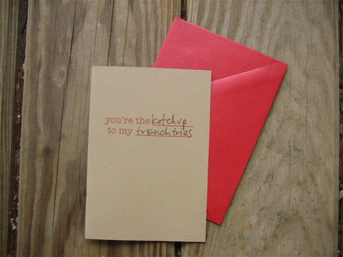 you are the... to my card | 18+ Kraft Paper Valentines
