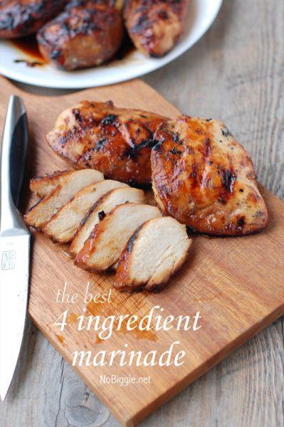The Best 4 ingredient chicken marinade   NoBiggie.net