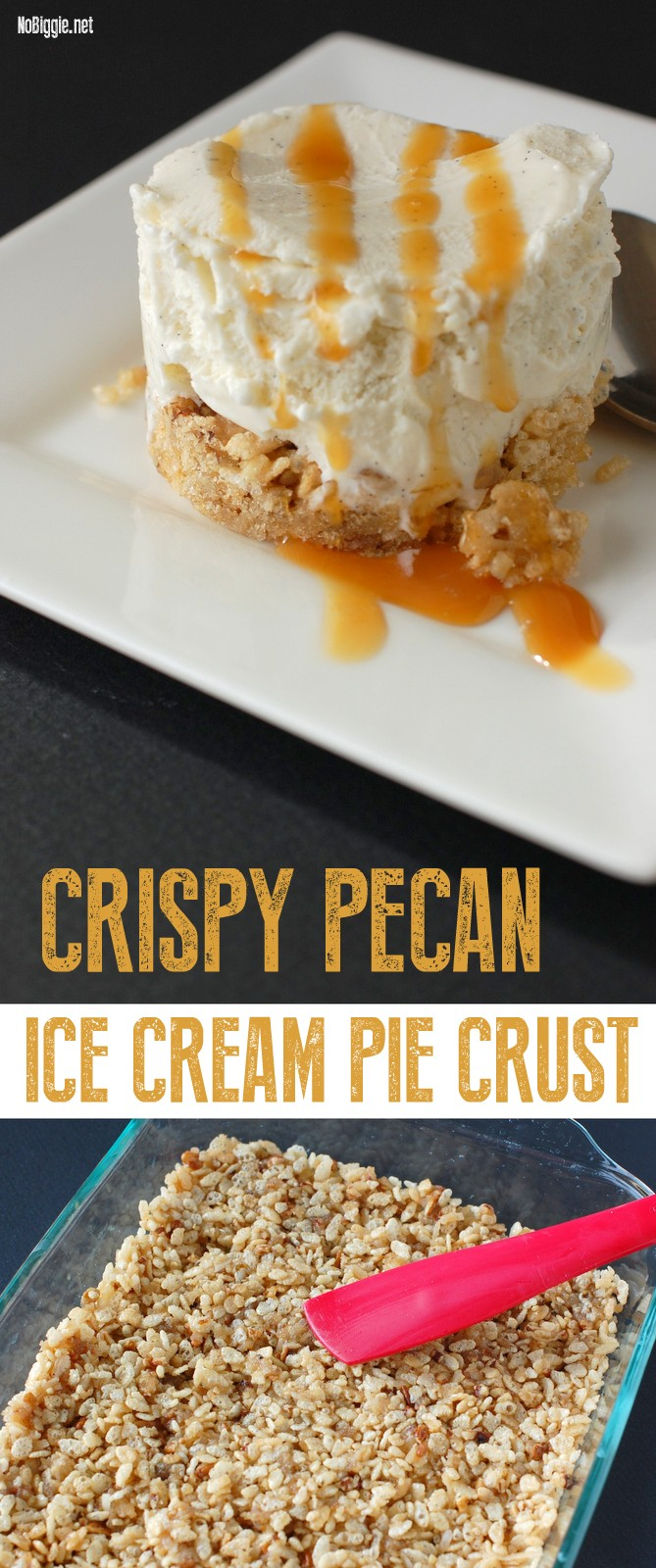Crispy Pecan Ice Cream Pie Crust