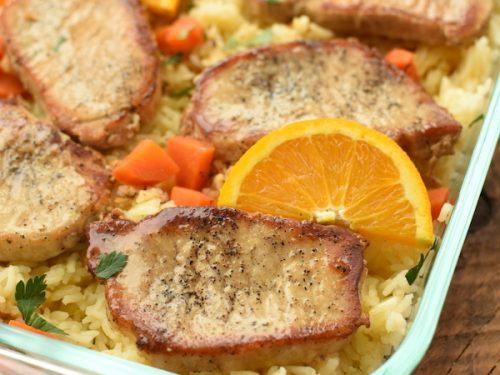 pork chop rice orange juice recipe Pork Chops with Orange Rice