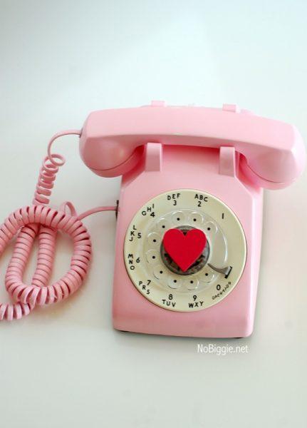 pink rotary phone NoBiggie.net