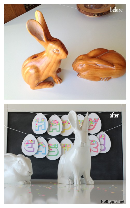 Easter decor before and after NoBiggie.net