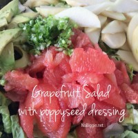 Grapefruit avocado salad with poppyseed dressing