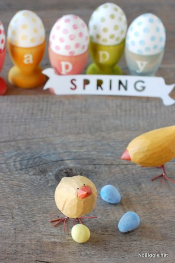DIY stained egg cups for Easter
