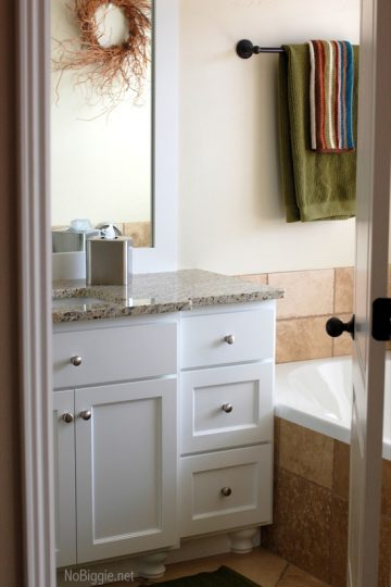 Master Bathroom Redo (before and after)