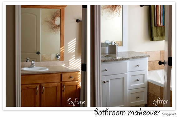 bathroom vanity before and after nobiggienet