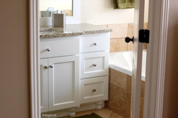 Redo Bathroom Cabinets Impressive Master Bathroom Redo Before And After Pics Review