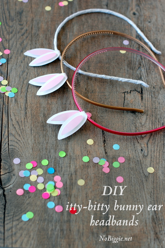 itty bitty Easter bunny ears headband (free printable)- Nobiggie.net