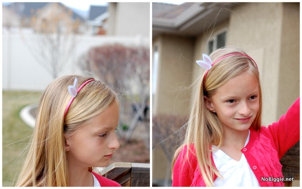 itty bitty bunny ears headband (free printable)- Nobiggie.net