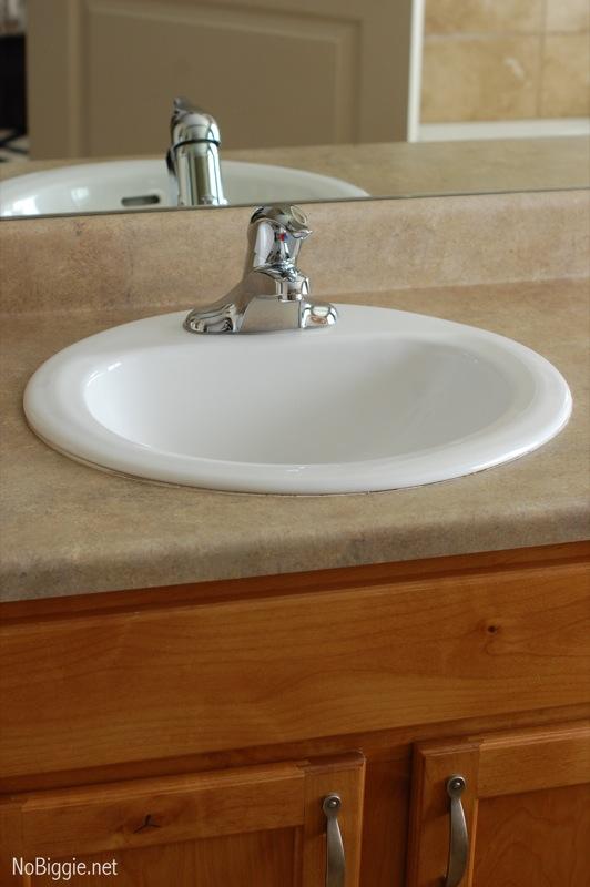 master bathroom sink - before - NoBiggie.net