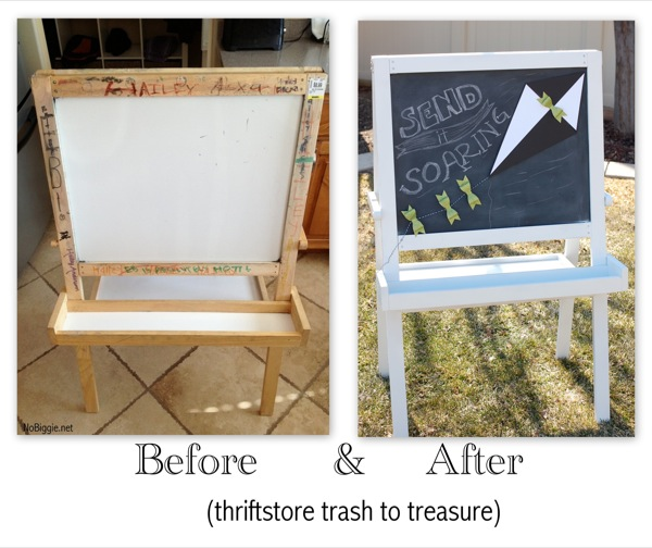 thriftstore makeover - before and after - NoBiggie.net