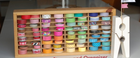 washi tape storage and organizer - NoBiggie.net