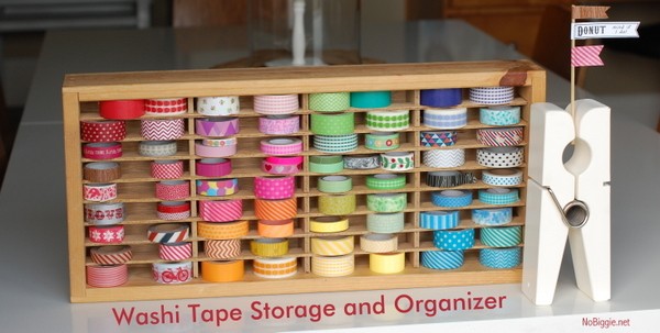 washi tape storage and organizer using an old cassette tape holder | NoBiggie.net