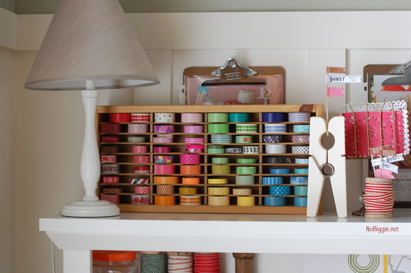 washi tape storage idea - NoBiggie.net
