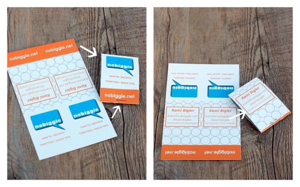 Come learn how to make a matchbook business card | NoBiggie.net