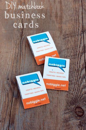 DIY matchbook business cards