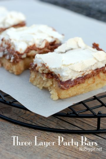 Three layer party bars