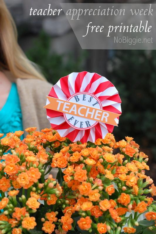 teacher appreciation free printable | NoBiggie.net