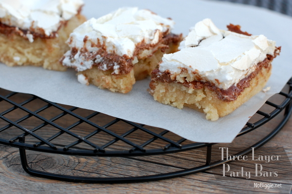 three layer party bars #recipe NoBiggie.net