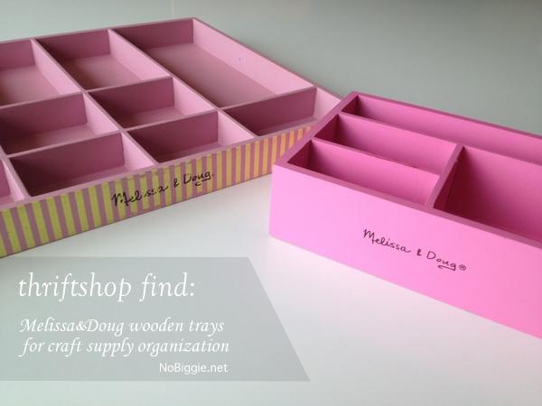Melissa & doug storage trays for craft supplies - more ideas on NoBiggie.net