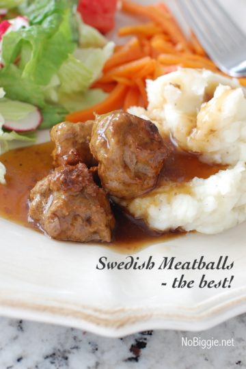 Swedish Meatballs – the best!