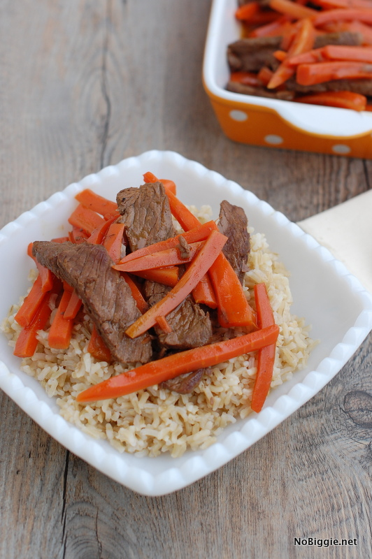 oriental beef and carrot hot dish | NoBiggie.net