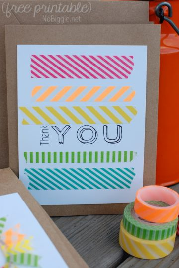 Washi Tape Cards (free printable)