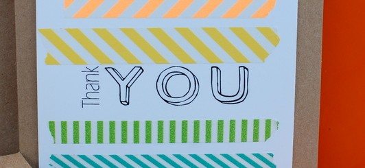 washi tape thank you card - NoBiggie.net