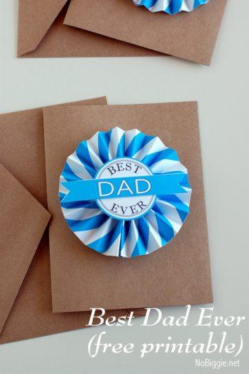 Father's Day Printable medallion - free printables on NoBiggie.net