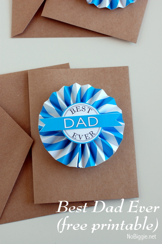 Father's Day Printable medallion | free printables on NoBiggie.net