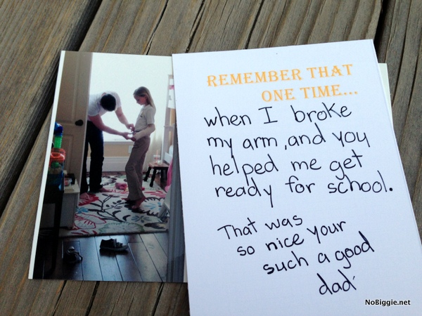 Father's Day photo book gift idea with Free Printables | NoBiggie.net