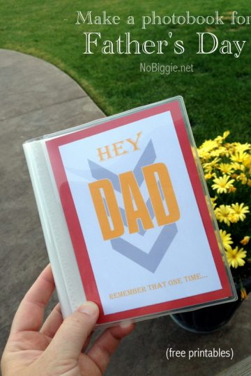 Father's Day Photo Book Gift Idea (free printable)