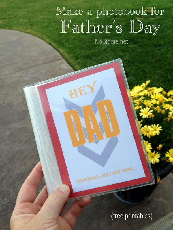 Father's Day photobook gift idea with Free Printables- Nobiggie.net