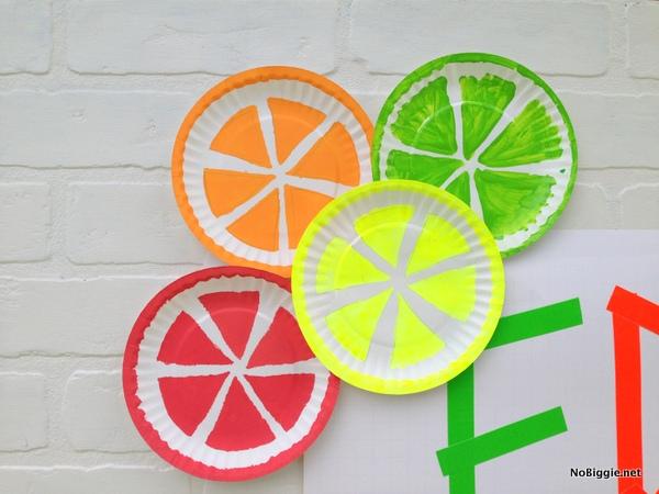 citrus paper plates decoration - NoBiggie.net