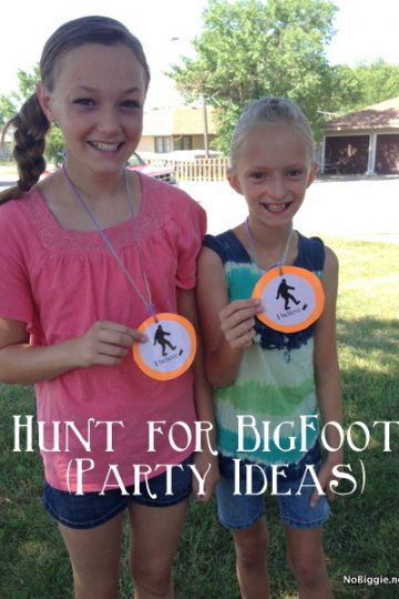 The hunt for Big Foot (party ideas)