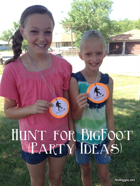 BigFoot badge - boy birthday party ideas NoBiggie.net