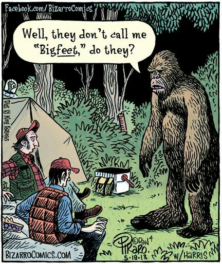 big foot cartoon